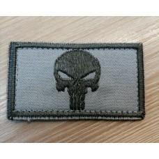 Нашивка Череп Punisher сірий