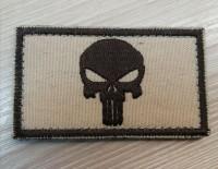 Нашивка Череп Punisher світлий койот