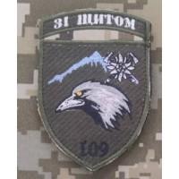 Шеврон 109 ОГШБ Зі щитом