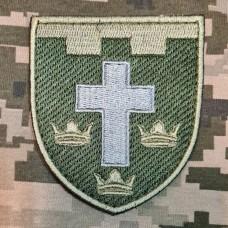 Нарукавний знак 124 окрема бригада ТрО Херсонська обл Олива