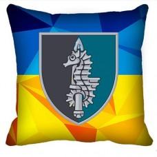 Декоративна подушка 73-й Морський Центр Спеціальних Операцій (новий шеврон - Україна)