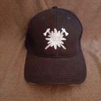 Бейсболка з вишивкою Едельвейс Гірська Піхота ЗСУ (чорна)