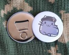 Купить Відкривачка з магнітом Котик Танкіст в интернет-магазине Каптерка в Киеве и Украине