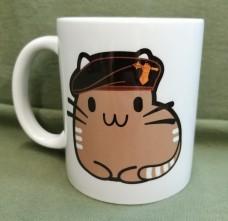 Керамічна чашка Котик Танкіст