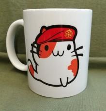 Керамічна чашка Котик Артилерист