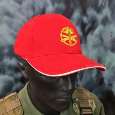 Бейсболка з вишивкою Артилерія ЗСУ червона