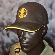 Бейсболка з вишивкою Піхота і напис Бог любить піхоту чорна