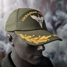 Бейсболка з вишивкою ДШВ ЗСУ Ukrainian Airborne Олива