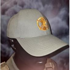 Бейсболка з вишивкою Піхота і напис Бог любить піхоту світла олива