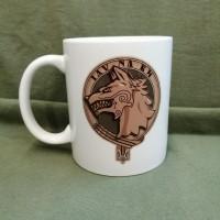Керамічна чашка з зображенням Фрачника ССО та Вовкулакою (біла)