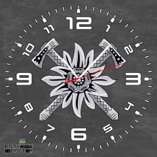 Годинник Едельвейс (скло) сірий