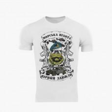 Футболка Coolmax Морська піхота (біла)