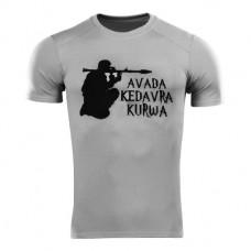 Футболка Coolmax Avada Kedavra Kurwa (РПГ) сіра