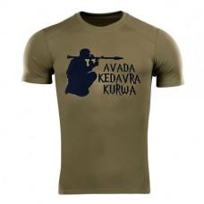 Футболка Coolmax Avada Kedavra Kurwa (РПГ) олива