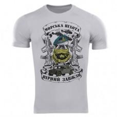 Футболка Coolmax Морська піхота (сіра)