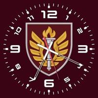 Годинник 199 НЦ ДШВ ЗСУ (скло) марун