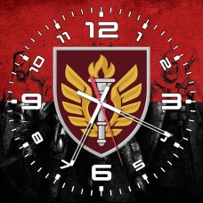Годинник 199 НЦ ДШВ ЗСУ (скло) червоно чорний