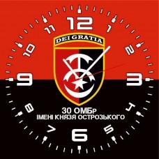 Годинник 30 ОМБр (скло) Червоно чорний