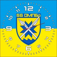 Годинник 56 окрема мотопіхотна Маріупольська Бригада (скло)