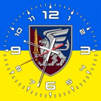 Годинник 81 ОАеМБр жовто-блакитний
