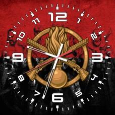 Годинник Піхота (скло) червоно-чорний Герої