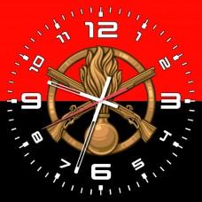 Годинник Піхота (скло) червоно-чорний