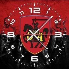 Годинник 54 ОМБр (неофіційний знак червоно-чорний варіант)