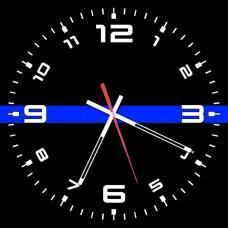 Годинник #ThinBlueLineUkraine #ТонкаСиняЛінія (скло)