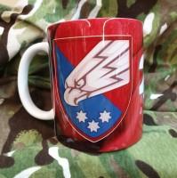 Керамічна чашка 25 ОПДБр (марун) з новим знаком бригади Завжди перші!