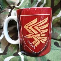 Керамічна чашка 95 ОДШБр (марун) новий знак