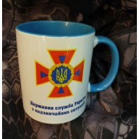 Керамічна чашка ДСНС (синя)
