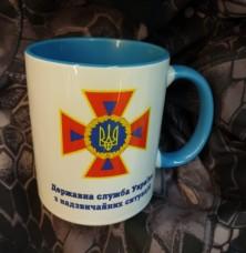 Купить Керамічна чашка ДСНС (синя) в интернет-магазине Каптерка в Киеве и Украине