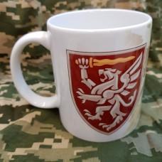 Керамічна чашка 80 ОДШБр Завжди перші! (знак)