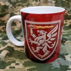Купить Керамічна чашка 80 ОДШБр (марун) Завжди перші! в интернет-магазине Каптерка в Киеве и Украине