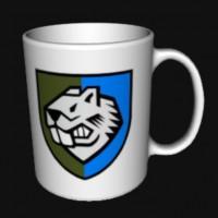 Керамічна чашка 808 Окремий Полк Підтримки біла