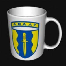 Купить Керамічна чашка Айдар біла в интернет-магазине Каптерка в Киеве и Украине