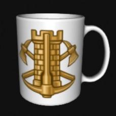 Керамічна чашка Інженерні війська Біла