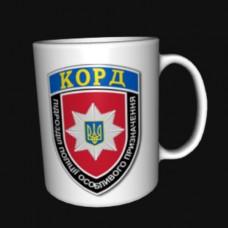 Керамічна чашка КОРД (біла)