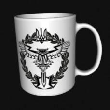 Керамічна чашка Розвідка біла