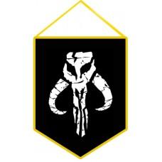 Вимпел Mandalorian logo (чорний)