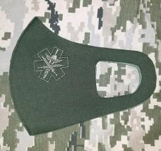 Маска з вишивкою Medic Spartan олива