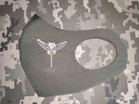 Маска з вишивкою Розвідка (сова з мечем)