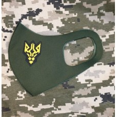 Маска з вишивкою Батальйон ім. генерала Кульчицького НГУ