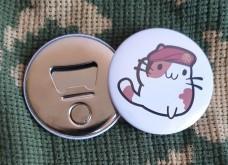 Купить Відкривачка з магнітом Котик Артилерист в интернет-магазине Каптерка в Киеве и Украине