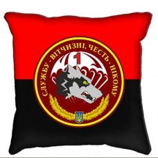 Декоративна подушка 1 ДШБ 79 ОДШБр ДШВ червоно-чорна
