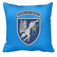 Декоративна подушка 204 бригада тактичної авіації (блакитна)