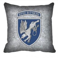 Декоративна подушка 204 бригада тактичної авіації (сіра)
