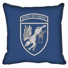 Декоративна подушка 204 бригада тактичної авіації (синя)