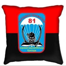 Декоративна подушка 81 ОАеМБр червоно чорна