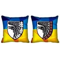 Декоративна подушка 93 ОМБр Холодний Яр (двостороння) Вишиванка